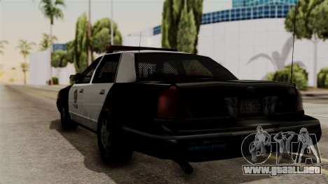 Ford Crown Victoria LP v2 LSPD para GTA San Andreas left