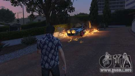 GTA 5 4K Fire Overhaul 2.0 tercera captura de pantalla