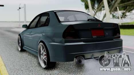 Mitsubishi Lancer Evolution Turbo para GTA San Andreas left