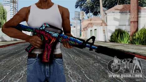 M4A1-S Hyper Beast para GTA San Andreas tercera pantalla