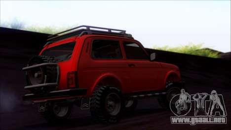 VAZ 2121 Niva Offroad para vista lateral GTA San Andreas