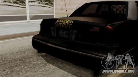 Ford Crown Victoria LP v2 Sheriff para la visión correcta GTA San Andreas