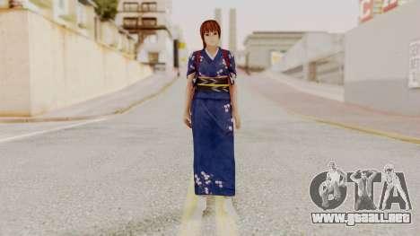 DOA 5 Kasumi Kimono para GTA San Andreas segunda pantalla