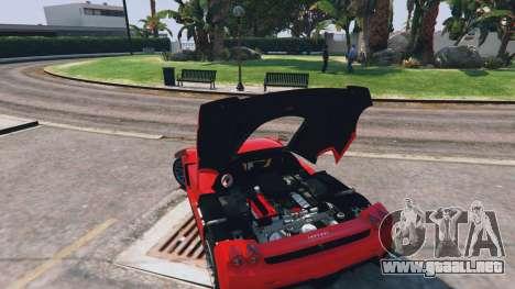 GTA 5 Ferrari Enzo v0.5 vista lateral trasera derecha