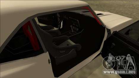 Chevrolet Camaro SS Drift para GTA San Andreas vista posterior izquierda