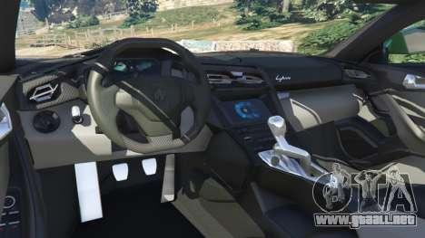 GTA 5 Lykan Hypersport 2014 v1.1.5 vista lateral trasera derecha