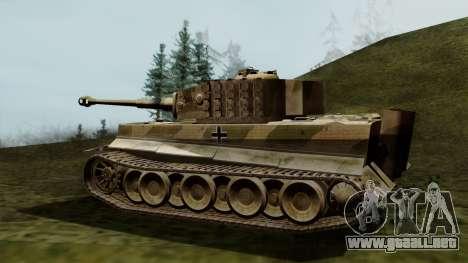 Panzerkampfwagen VI Ausf. E Tiger para GTA San Andreas left