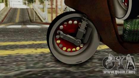 Zip SP Rat Style para GTA San Andreas vista posterior izquierda