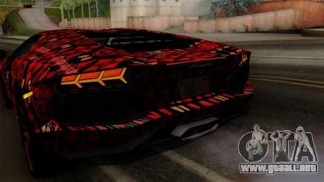Lamborghini Aventador LP-700 Batik para el motor de GTA San Andreas