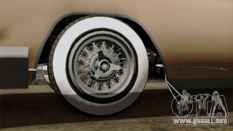 Vapid Peyote Bel-Air para GTA San Andreas vista posterior izquierda
