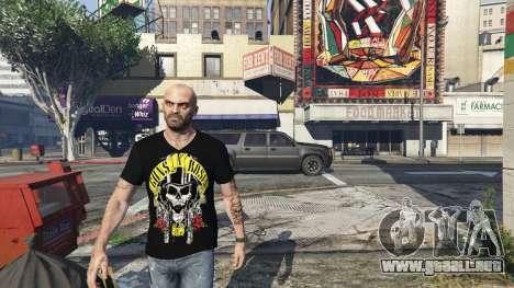Trevor Guns and Roses Top Hat Shirt para GTA 5