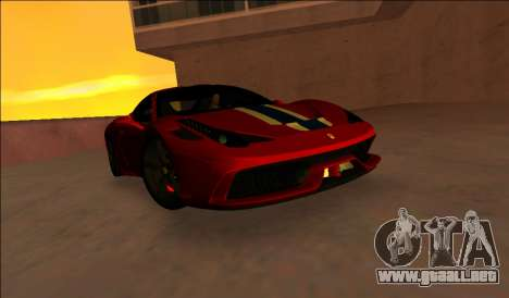 Ferrari 458 Especial para GTA Vice City left