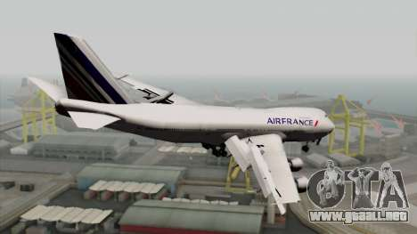 Boeing 747-200 Air France para GTA San Andreas left