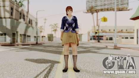DOA 5 Kasumi Blue Sweater para GTA San Andreas segunda pantalla