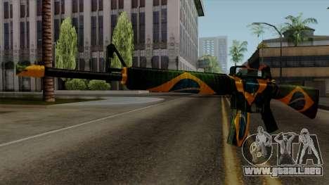 Brasileiro M4 v2 para GTA San Andreas segunda pantalla