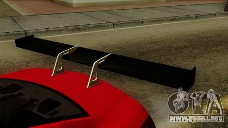 Nissan GT-R Liberty Walk Performance para GTA San Andreas vista hacia atrás