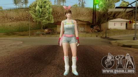 Dead Or Alive 5 Hitomi Overalls para GTA San Andreas segunda pantalla