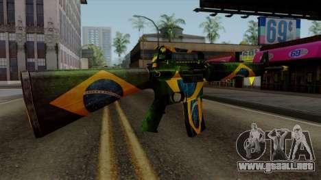 Brasileiro M4 v2 para GTA San Andreas tercera pantalla