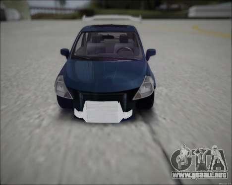 Nissan Tiida Drift Korch para la visión correcta GTA San Andreas
