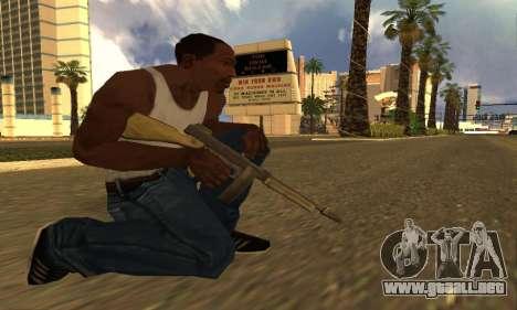 GTA 5 Gusenberg Sweeper para GTA San Andreas tercera pantalla