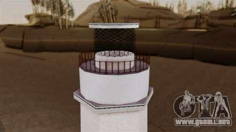 LS Santa Maria Lighthouse para GTA San Andreas sucesivamente de pantalla