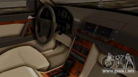 Mercedes-Benz W140 400SE 1992 para la visión correcta GTA San Andreas