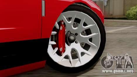 Vapid Bullet GT-GT3 para GTA San Andreas vista posterior izquierda
