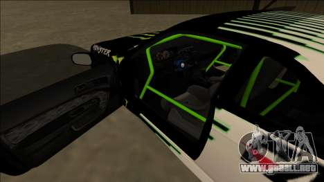 Nissan 200SX Drift Monster Energy Falken para GTA San Andreas interior