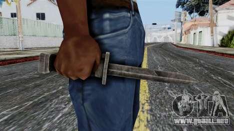 Allied Knife from Battlefield 1942 para GTA San Andreas tercera pantalla