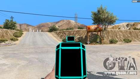 GTA 5 Saints Row 3 Cyber SMG Emissive v1.01 tercera captura de pantalla
