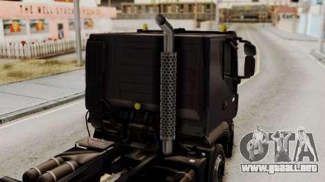 Volvo Truck from ETS 2 para GTA San Andreas vista hacia atrás