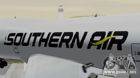 Boeing 747 Southern Air para GTA San Andreas vista hacia atrás