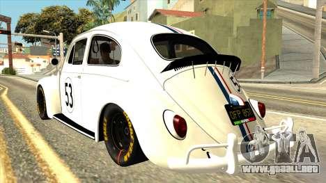 Volkswagen Beetle Herbie Fully Loaded para GTA San Andreas left