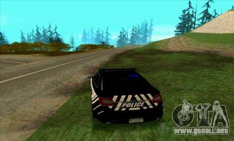 Federal Police Ford Taurus HSO para GTA San Andreas vista posterior izquierda