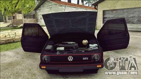 Volkswagen Golf Mk2 Line para vista inferior GTA San Andreas