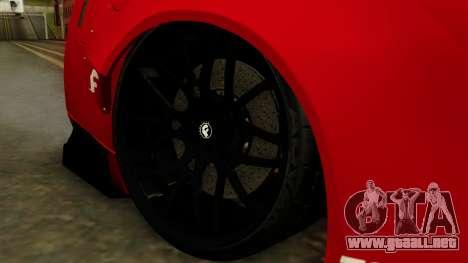 Nissan GT-R Liberty Walk Performance para GTA San Andreas vista posterior izquierda