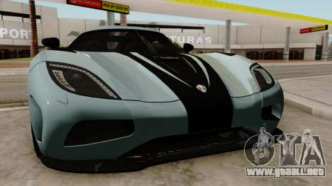 Koenigsegg Agera R 2014 para visión interna GTA San Andreas