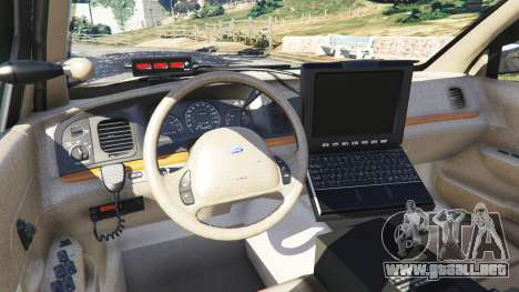 GTA 5 Ford Crown Victoria 1999 Police v0.9 vista lateral derecha