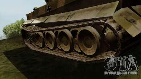 Panzerkampfwagen VI Ausf. E Tiger para GTA San Andreas vista posterior izquierda