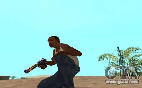 Desert Eagle con un cachorro de tigre para GTA San Andreas tercera pantalla