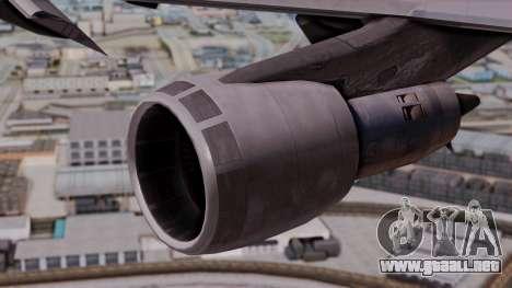 Boeing 747-100 British Overseas Airways para la visión correcta GTA San Andreas