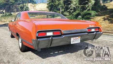 GTA 5 Chevrolet Impala 1967 vista lateral izquierda trasera