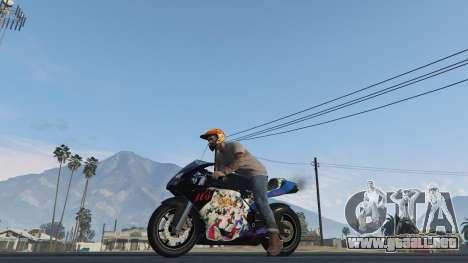 GTA 5 Pegassi Bati 801RR Anime Texture Pack vista trasera