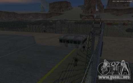 Nueva Base Militar v1.0 para GTA San Andreas décimo de pantalla