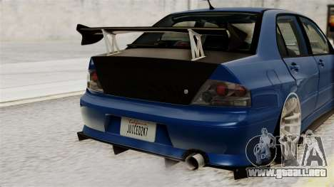 Mitsubishi Lancer Evolution v2 para visión interna GTA San Andreas