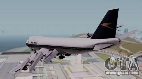 Boeing 747-100 British Overseas Airways para GTA San Andreas left