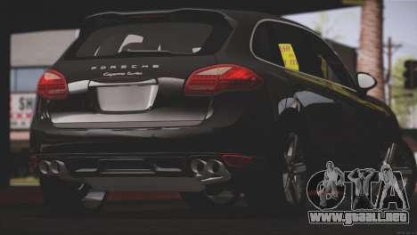 Porsche Cayenne Turbo 2012 para vista inferior GTA San Andreas