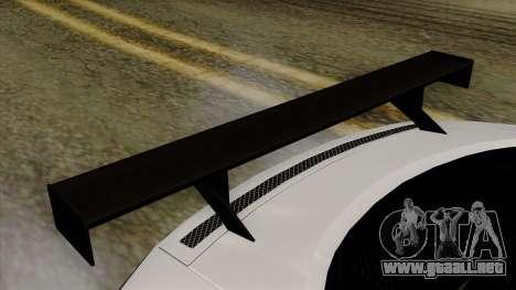 Audi R8 v1.0 Edition Liberty Walk para GTA San Andreas vista hacia atrás