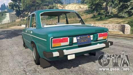 GTA 5 VAZ-2106 v0.2 vista lateral izquierda trasera