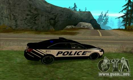 Federal Police Ford Taurus HSO para GTA San Andreas left